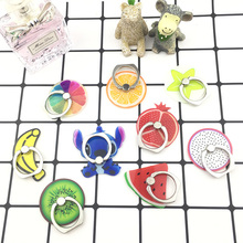 Cartoon fruit Finger Ring Mobile Phone Smartphone Stand Holder For iPhone iPad Xiaomi oppo huawei all Smart Phone Couple Ring