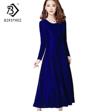 Buy 2018 Spring Dresses Fashion Women Clothing Robe Elegant Long Sleeves Casual Velvet Dress Plus Size 3XL Work Office Dress D7D588L for $18.90 in AliExpress store
