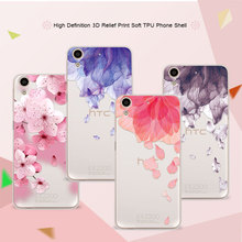"3D Relief Phone Case For HTC Desire 626 626W 626D 626G 5.0"" Floral Cartoon Peach Lace Soft Silicone Back Cover For HTC 626 Coque"