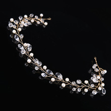Women Decoration For the hair Handmade Hairband Princess Crystal Rhinestone Bridal Headband Wedding Hairs Accessories Jewelry SL