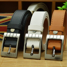 Kids Top Quality PU Leather Belt For Students Teenagers Waist Belt Straps Cowboy Belt Designers Kids Belt Boys Children Teens(China)