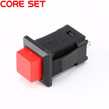 10Pcs/Set DS-431 Non-locking Round Switch Button 1A/250VAC Light Switch DIY Touch Switch red