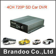 4 Channel AHD 720P Mobile DVR for Vehicle Car Bus Taxi Fleet(China)