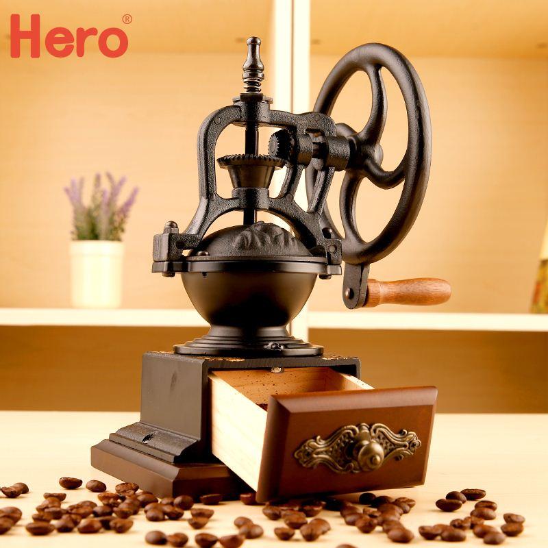 Free shipping Hand grinding coffee machine grinder retro hand Taiwan iron wheel beans apparatus Coffee machine<br><br>Aliexpress