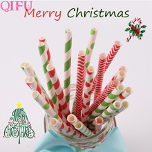 Buy QIFU 25pcs Paper Drinking Straws Pink Baby Shower Boy Girl Birthday Decoration Christmas Wedding Party Creative Drinking Straws for $1.14 in AliExpress store