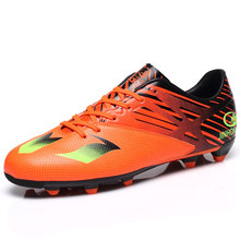 New Soccer Cleats Mens Boots Soccer Yellow/Orange/Black Football Boots Leather Spikes Trianing Football Shoe Nice Football Boots