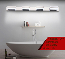 68cm 12W 4 heads LED Modern Acrylic Wall Lamp Bathroom Mirror Light , Stainless Wall Sconce , Led Light Factory