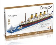 Hot Building Block Set City Ship Titanic RMS Titanic 3D Brick Educational Hobbies Toys For Kids Gift Compatible