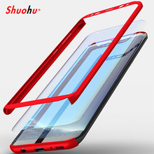Shuohu Luxury Phone Cases for Samsung S8 Case 360 Full Cover for Samsung Galaxy S8 Plus Case Cover with Screen Protector Coque
