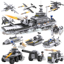 8PCS/lot Star War Airplane Vehicle Aircraft Carrier Model Building Blocks Toys DIY Kids Nice Gift Toys Safety ABS Building Kits