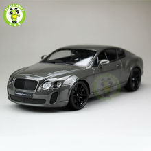 1:18 Scale Bentley Continental GT Diecast Car Model Toys Welly 18038 Gray