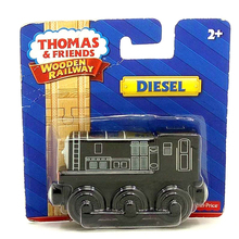w89 free shipping Thomas and friends Wooden magnetic locomotive DIESEL kids Orbital toys boutique gift box