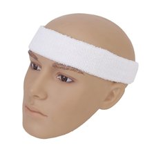 JEYL 1x Headband and 2x Elastic Wrist band for Sports - White