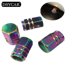 DSYCAR 4Pcs/lot Universal Car Moto Bike Tire Wheel Valve Cap Dust cover Car Styling for Fiat Audi Ford Bmw toyota volvo mazda VW