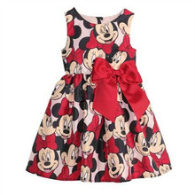 Girls cartoon Minnie dress baby Kids Girls Minnie Party dresses Christmas child's clothes Minnie striped tutu Princess dress