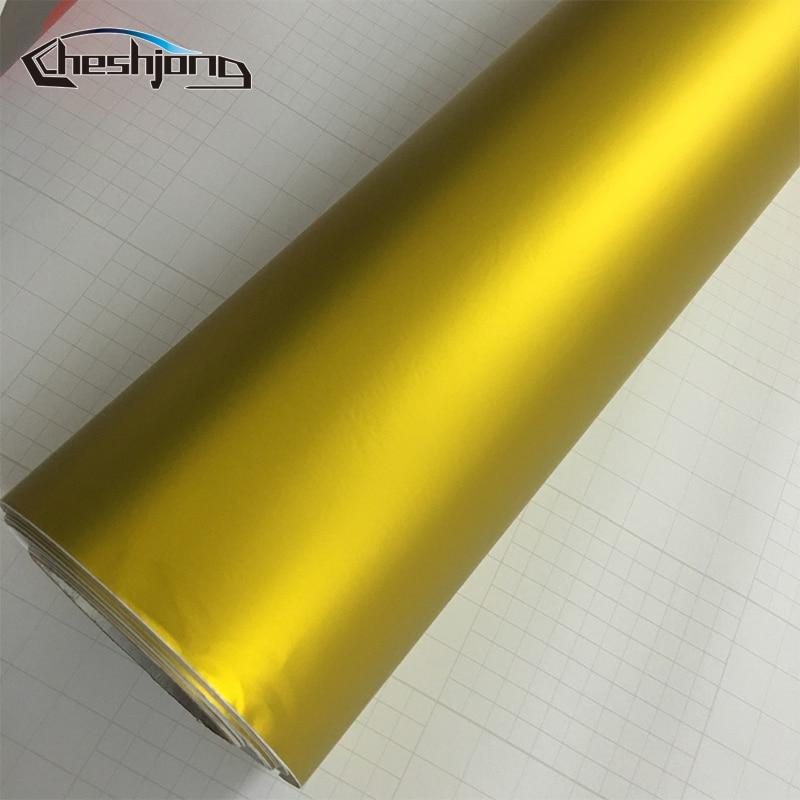 Matte-chrome-Golden-Car-Wrap-Vinyl-Sheet-3