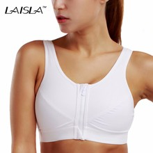 Women's High Impact Level 3 Front Zip X-shape Back No Padded Active Bra(China)
