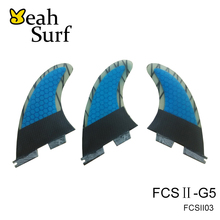 FCS II Quilhas Surf FCSII Fins Blue Carbon Surfboard Fin FCS2 Fin G5 Size