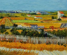 home decoration Oil painting reproduction Vincent Van Gogh painting Canvas Art The Harvest free shipping high quality handmade
