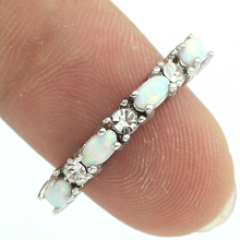HAIMIS Drop Ship Unusual White Fire Opal Crystal Fashion Jewelry Women Silver Rings Size 5 6 7 8 9 10 11 12 OR825(China)
