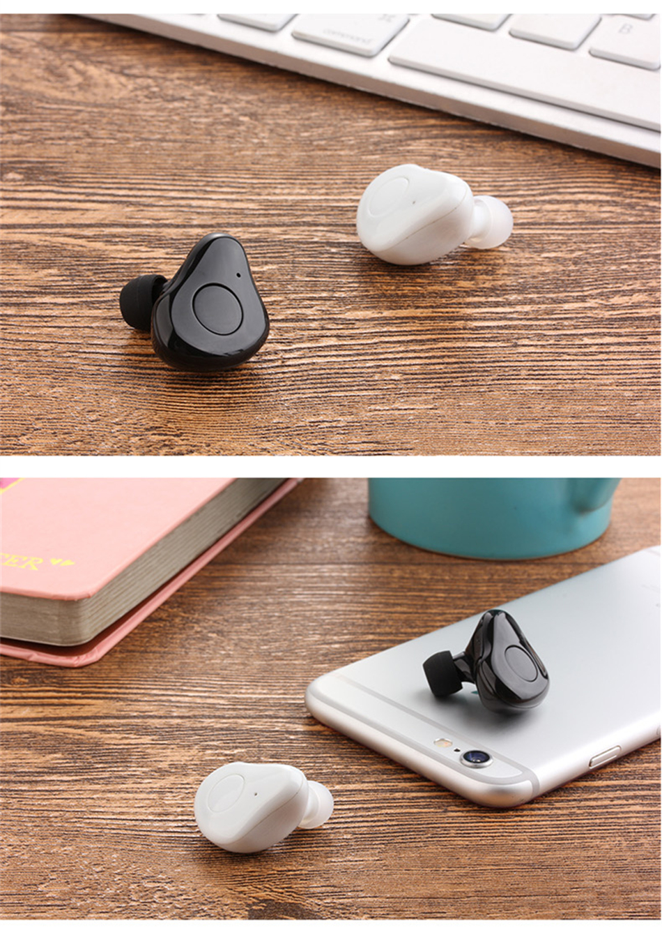 Super Mini Bluetooth Earphone with MIC 3D Stereo Sound In-ear Earbuds Wireless Earphone Car Earpiece Free Answer Control