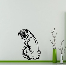Removable Art Dogs Bull Dog Silhouette Wall Stickers Home Special Decorative Vinyl Wall Mural Dog Series Wallpaper poster W-648(China)