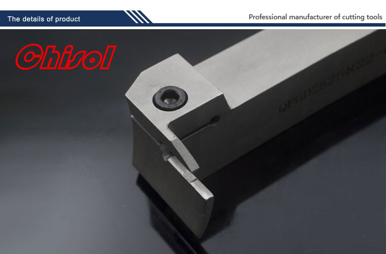 high quality cnc cutting tools surface grooving tool holder QFGD2525R22-64L for  carbide inserts ZTGD0404-MG <br>