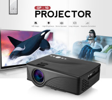 GP - 10 LED Video Projector 2000 Lumens 800 x 480P 1080P Red-Blue 3D Projetor USB TF Card Media Player Keystone Correction