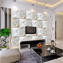 beibehang Large Custom Wallpapers European 3D Pattern Puzzle Dream Backdrop Soft Bag papel de parede para quarto wall paper(China)