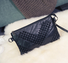 model of the new skin - leather rivet with a single shoulder - shoulder bag is a bag of European and American fashion(China)