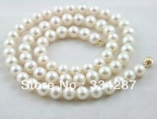 "7-8MM White Akoya Pearl Necklace A 18""(China)"