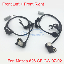 2pcs/ Set  Front Right+Front Left ABS Sensor Set For Mazda 626 GF GW 1997-2002 NEW GE7C-43-70X GE7C-43-73X Free Shipping