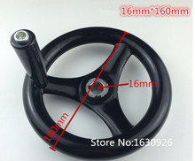 FREE SHIPPING 16mm Bore 160mm Diameter Hand Wheel w Revolving Handle(China)