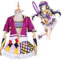 Love Live School Idol Project Tojo Nozomi Tennis Boob Tube Tops Hoody Coat Dress Uniform Outfit Anime Cosplay Costumes
