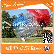 Free Shipping 2PCS(1Red+1Blue)1.2m Bubble Ball, Bubble Football, Bumperballs For Kids(China)