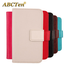ABCTen Stylish Pop Hot Pure Color Cell Phone Case For Acer Liquid E700 Book Design PU Leather Accessories(China)