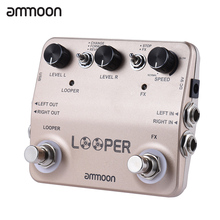 ammoon LOOPER Guitar Effect Pedal Sound Recording True Bypass Aluminum Alloy Surface Design with USB Cable