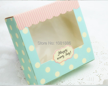 Light blue paper box for cakes and pies ,wedding cake favor box Free Shipping
