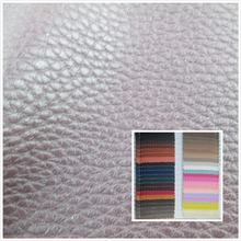 Litchi grain 1.0 mm faux leather fabric 45 color soft durable PU synthetic leather textile fabric for sofa bag belt leather