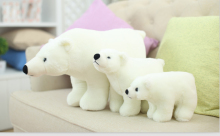 Hot sale high quality Polar Bear plush doll Simulation of small polar bear dolls best frieds for baby free shipping(China)