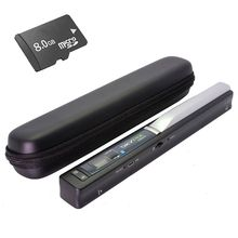 Free Shipping!Portable Skypix TSN410 A4 Photo Scanner Scan + 8GB SD Card & Hard Carrying Case