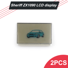 2016 Wholesale 2 PCS Sheriff ZX1090 2-way auto alarm system LCD display for Car remote Starter Sheriff ZX1090 LCD display(China)