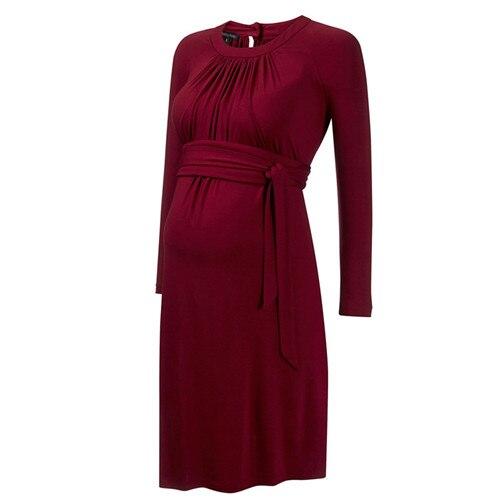 Brand Spring Summer Three Quarter Formal Maternity Dresses Pregnancy Clothes Knee Length Womens Office Vestidos Studio Clothing<br>