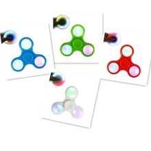 Buy LED Light Hand Finger Spinner Fidget Plastic EDC Hand Spinner Autism ADHD Relief Focus Anxiety Stress Gift Toys for $1.50 in AliExpress store