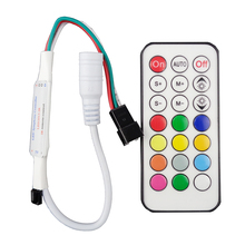 21Key DC5V WS2811 IR LED Controller 63 Kinds Effects Led Pixel Controller For Led Strips Full Color Led controller