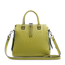 2017 Summer Trends Knitting Bag Famous Brand Female Shoulder Bag Luxury Designer Women Leather Handbags Purse Double Zipper Sac