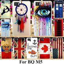TAOYUNXI Soft Phone Cases For BQ Aquaris M5 M 5 5.0 inch Covers Hard Back Dream Catcher Russia UK Flags Silicone Bags Shell