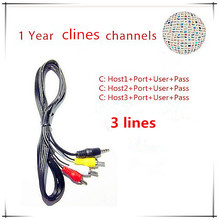 HD AV Cable Clines for Satellite Receiver DVB-S2 via USB wifi.More specification can selected(China)