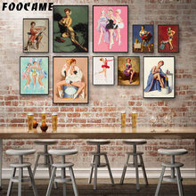 FOOCAME Beauty Classic Retro Famous Painter Posters and Prints Art Canvas Painting Home Decor Wall Pictures For Living Room(China)