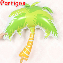 1pc Giant Coconut tree Foil balloons wedding party Bar theme Summer party decoration Palm leaf Globos Helium inflatable ball